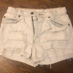 Levi's ripper jeans shorts